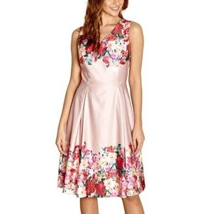 NWT Modcloth Yumi Pale Pink Floral Swing Dress